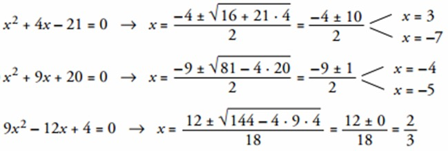 Ecuaciones de segundo grado resueltas paso a paso