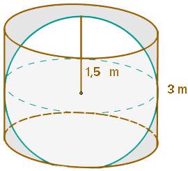 Ejercicio resuelto de calcular área de una esfera