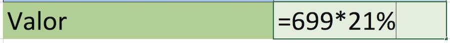 Porcentaje de un número en Excel