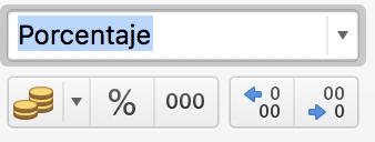 Tanto por ciento en Excel