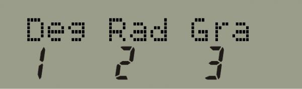 Configuración grados radianes en calculadora Casio