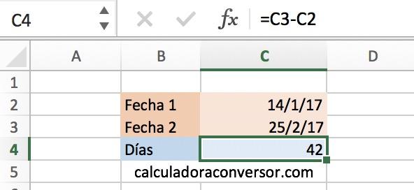 Contador de días en Excel