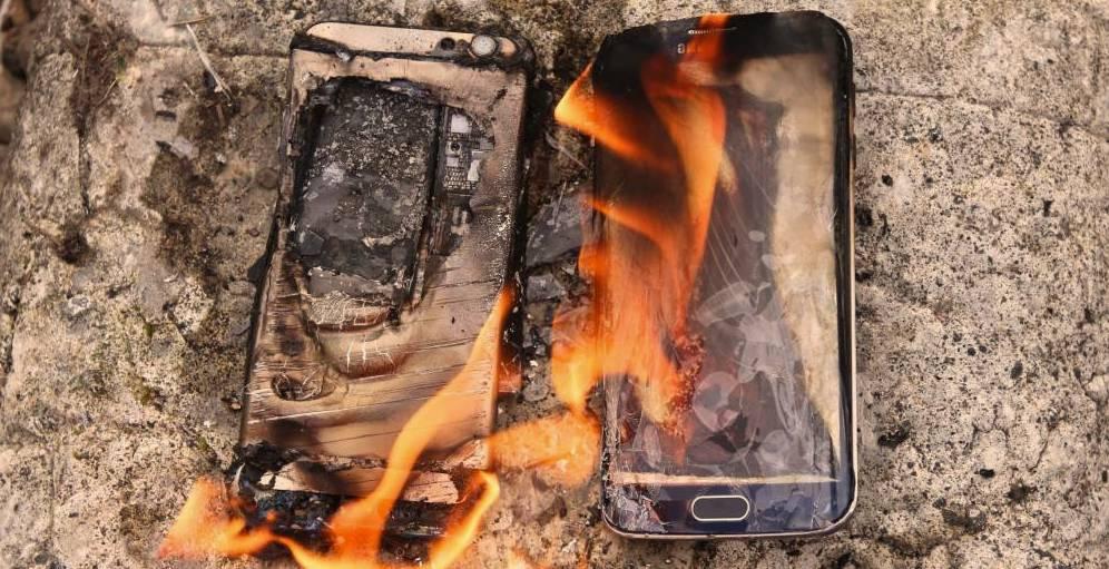 Samsung Galaxy Note 7 en llamas