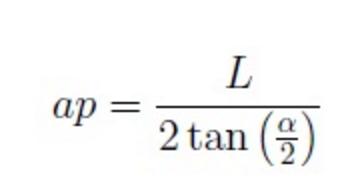 Fórmula para calcular apotema