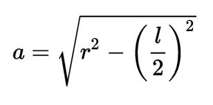 Fórmula para sacar la apotema