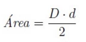 Fórmula para calcular el área del rombo