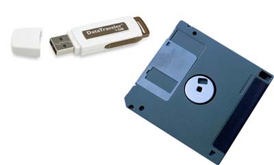 Diskette y pendrive