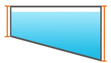 Litros de una piscina rectangular