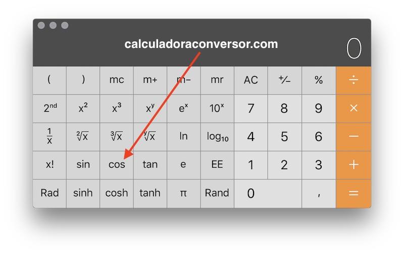 Calcular el coseno en calculadora