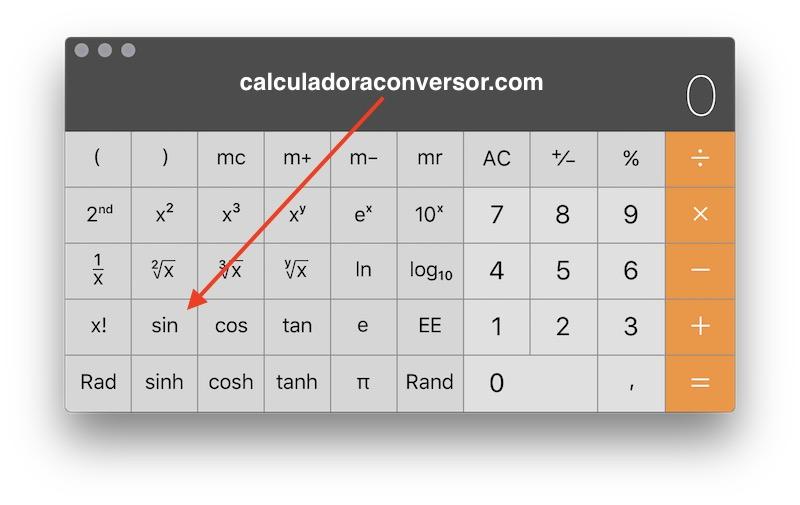 Calcular seno en calculadora