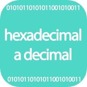 Conversor hexadecimal a decimal