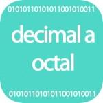 Decimal a octal online
