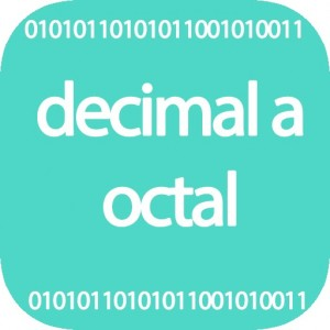 Conversor de decimal a octal