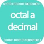 Pasar octal a decimal