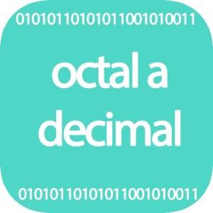 Conversor de octal a decimal