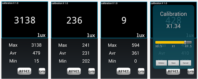 Luxómetro para Android