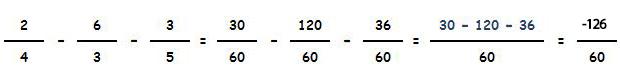 Resta de fracciones con distinto denominador