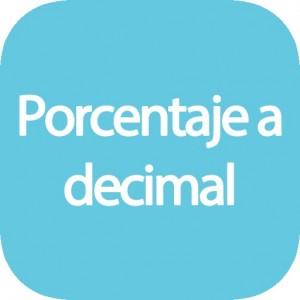 Calculadora de porcentaje a decimal