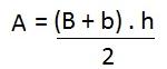 Fórmula para calcular el área de un trapecio
