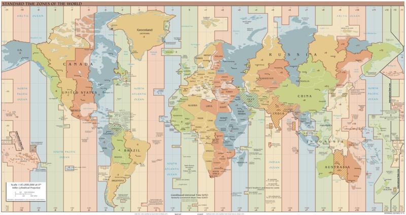 Mapa de Husos horarios