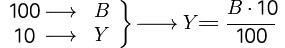 Fórmula para calcular el 10 por ciento de un número