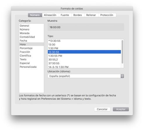 Pasar de segundos a horas, minutos y segundos en Excel