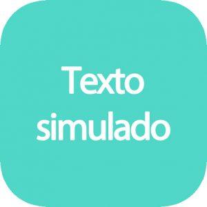 Generador de texto simulado
