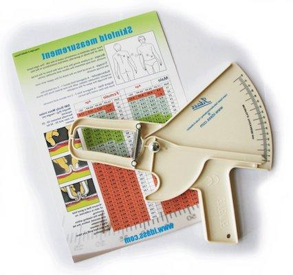 Plicómetro para medir la grasa corporal