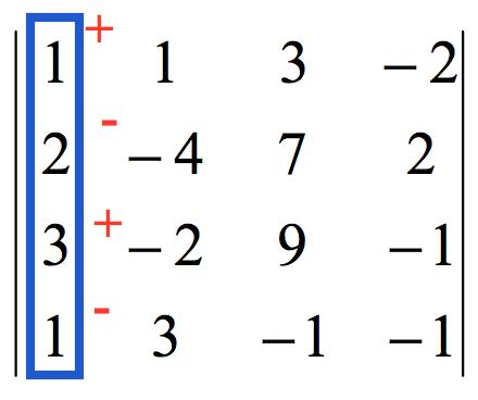 Determinante 4x4 por adjuntos