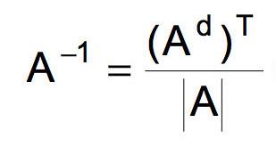 Fórmula para calcular matriz inversa