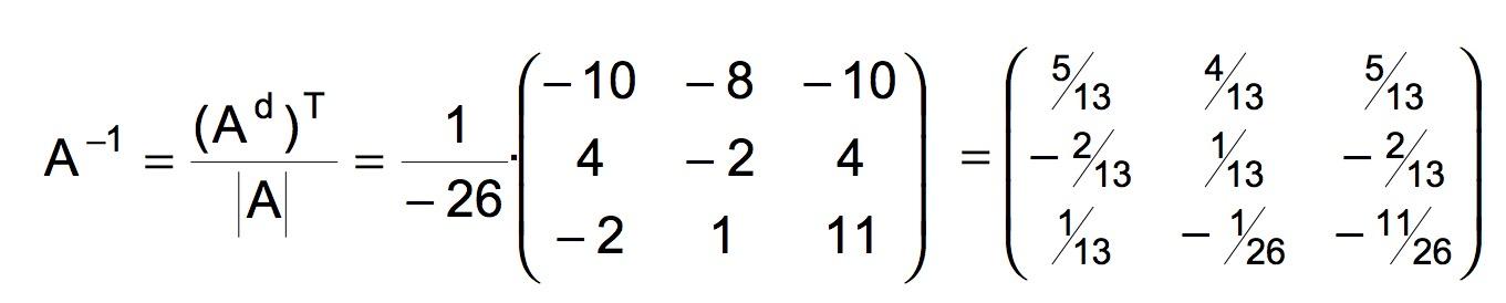 Ejemplo resuelto de matriz inversa