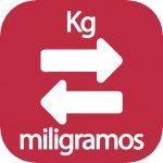 Convertir Kg a mg