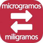 Microgramos a mg