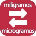 Miligramos a microgramos
