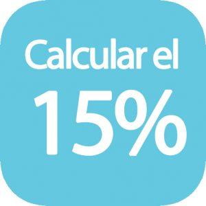 Calcular 15 por ciento de una cantidad