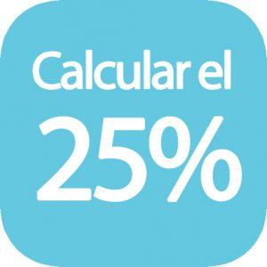 Calcular el 25 por ciento