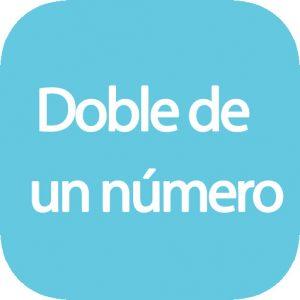 El doble de un número