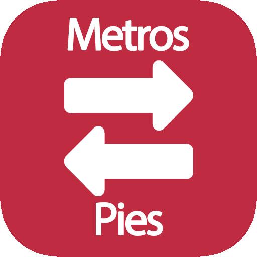 Metros a pies