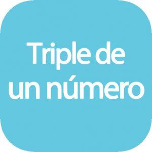 Triple de un número