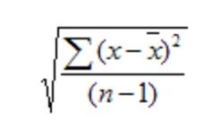 Fórmula de desviación típica muestral