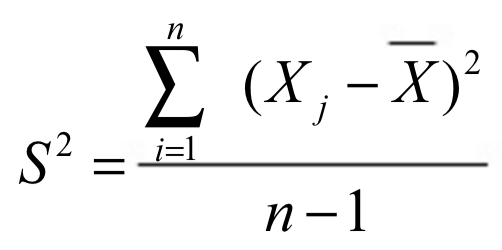 Fórmula de la varianza muestral