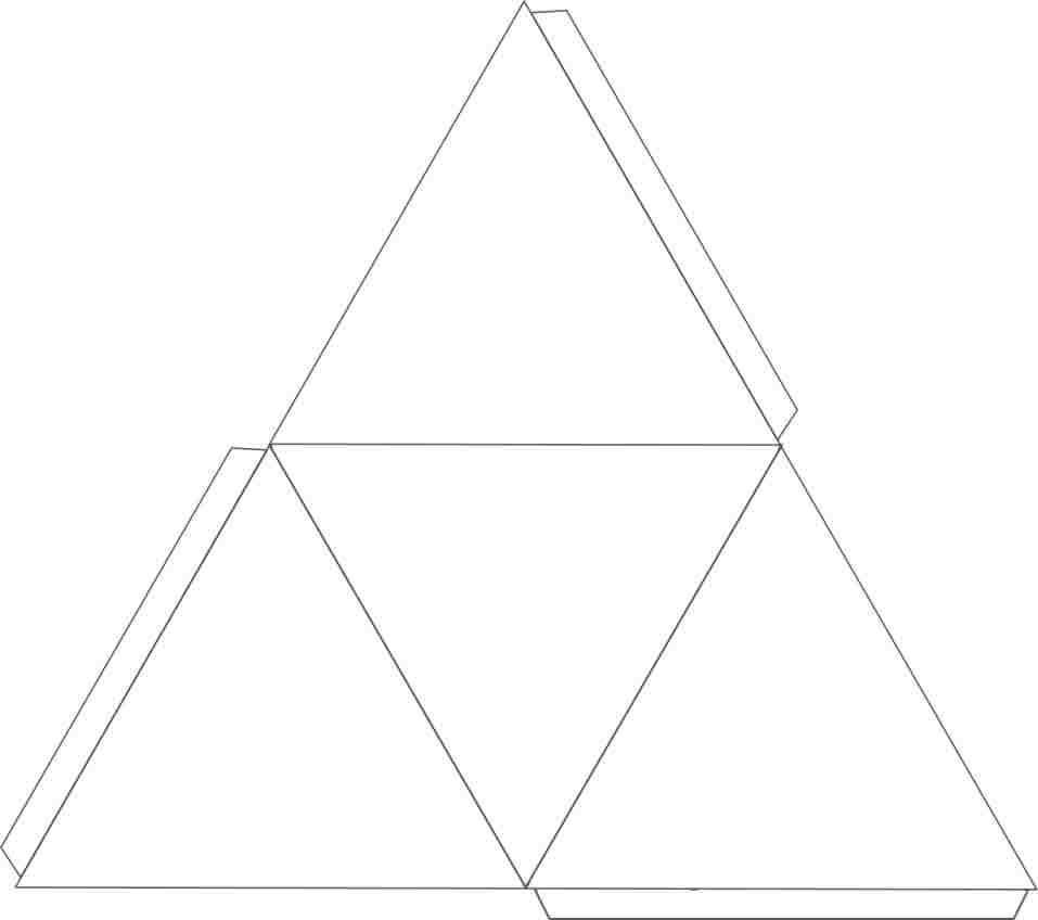 Plantilla para hacer un tetraedro