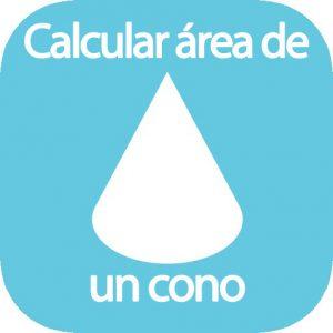 Calcular área cono