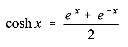 Fórmula del coseno hiperbólico
