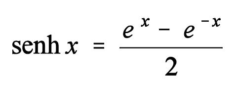 Fórmula seno hiperbólico