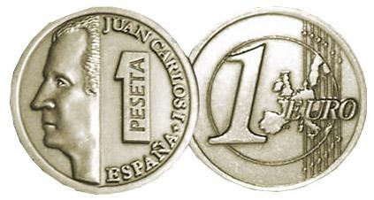 pesetas euros