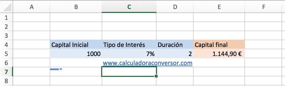 Calcular rentabilidad en Excel