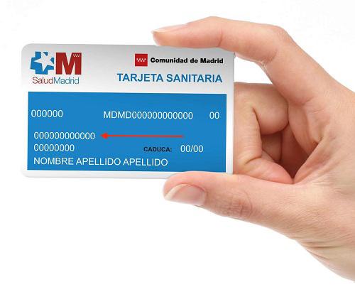 Número de seg social en tarjeta sanitaria de Madrid