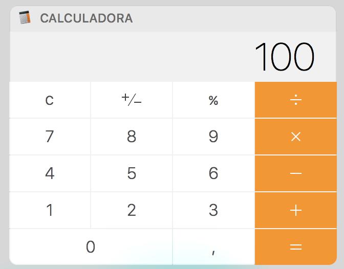 Calculadora porcentaje