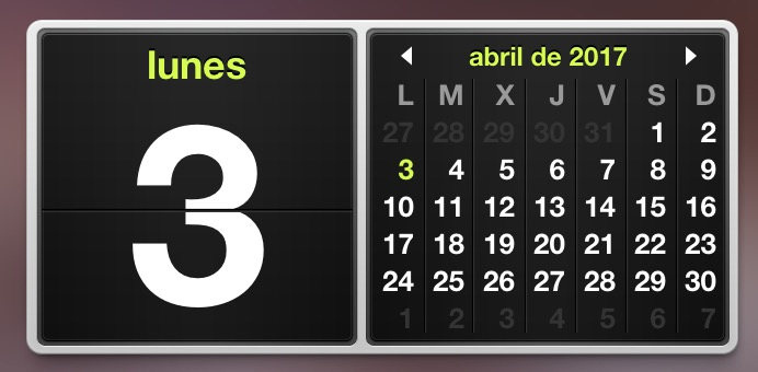 Calendario de vacaciones